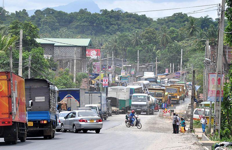 Road traffic in Sri Lanka